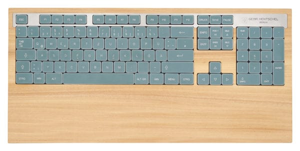 Unique wooden computer keyboard - elm wood