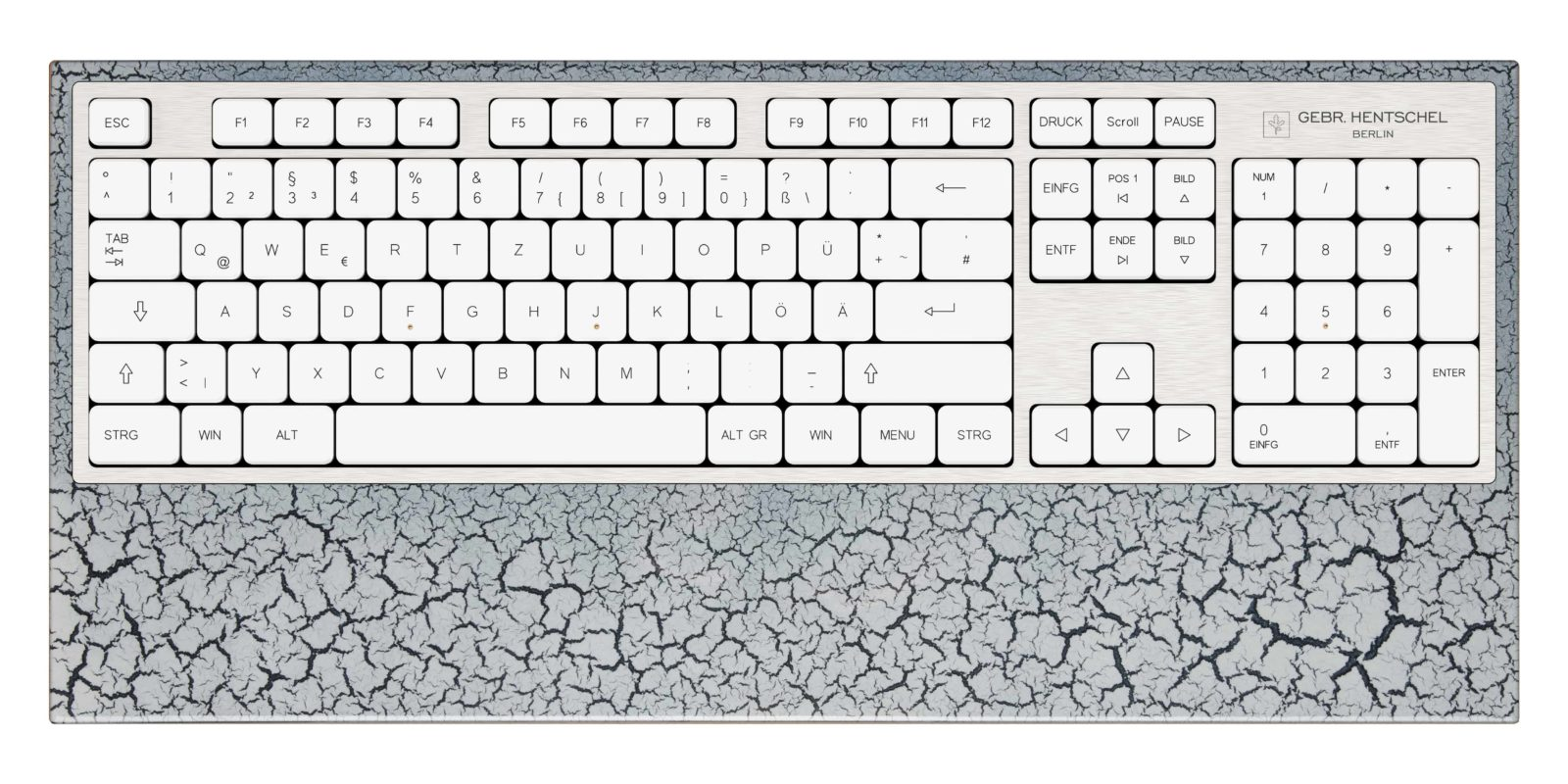 A unique and luxury computer keyboard in laquer