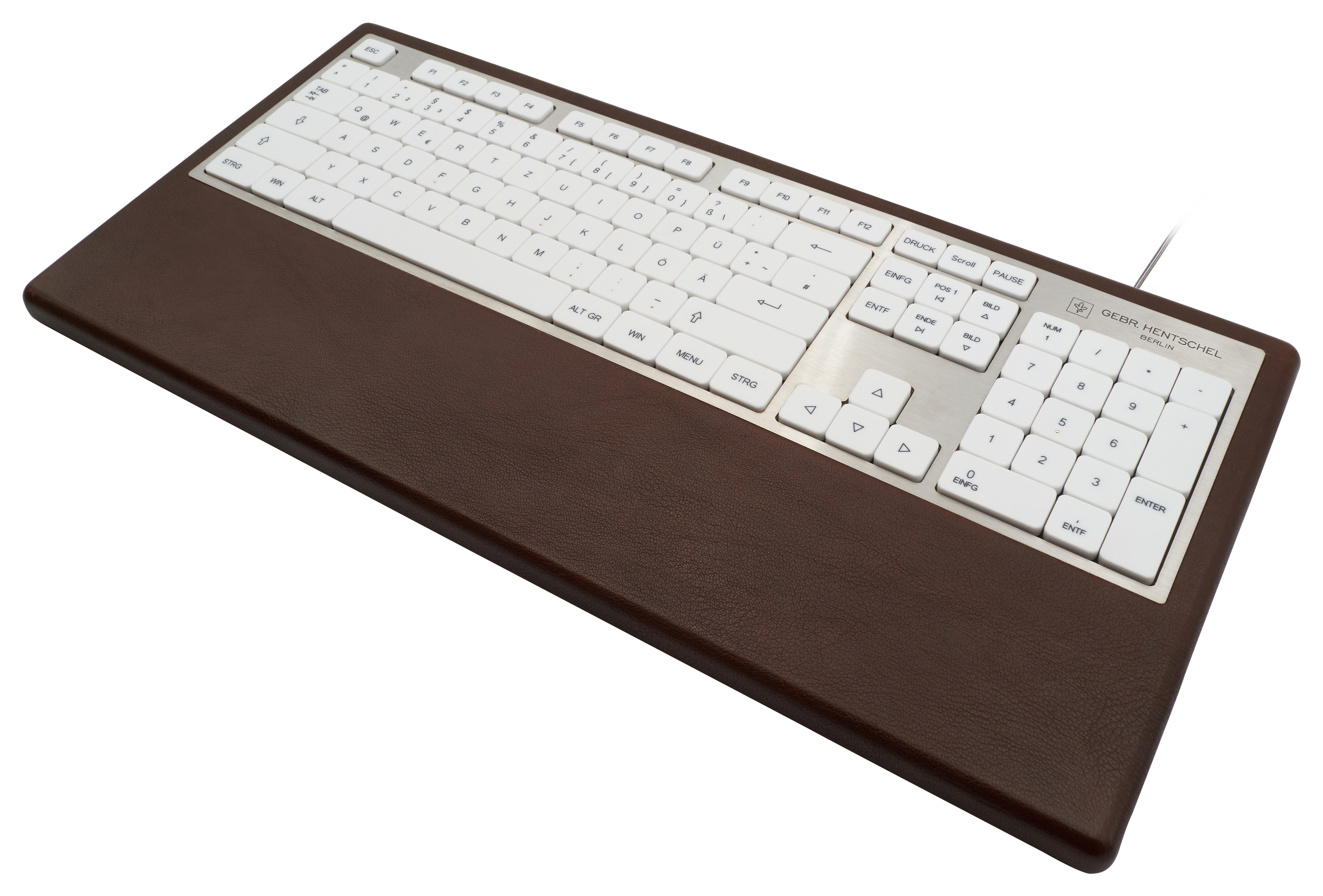 Luxury computer keyboard in brown leather