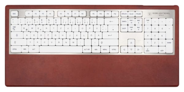 Luxury computer keyboard in red leather
