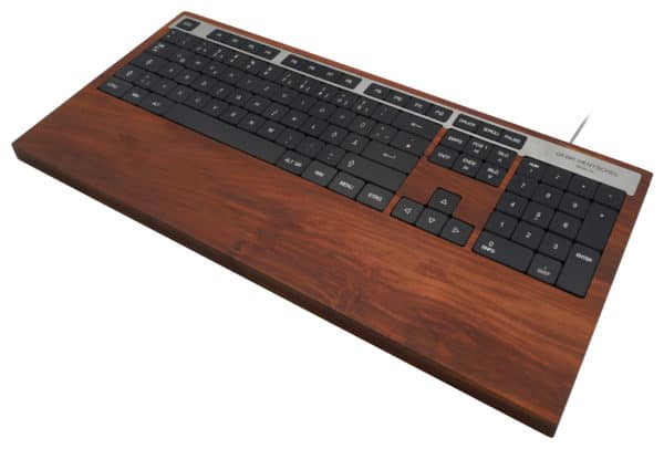 Luxury computer keyboard in plum wood
