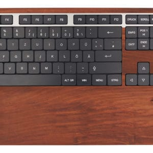 Design computer keyboard in plum wood
