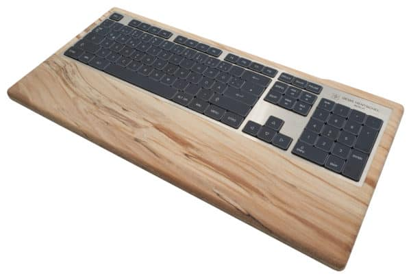 Sustainable computer keyboards in spalted beech wood